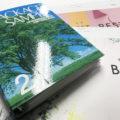 見本帳(3㎜厚) 印刷紙と厚紙で板紙を挟み丈夫なボードにすることにより、ページ数が多くてもしっかりとファイリングできます。